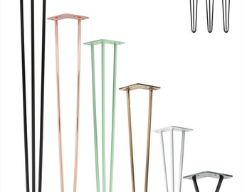 3x Hairpin Legs various colors and sizes, table legs, table skids, hairpin legs, table frame, dining table, coffee table, DIY
