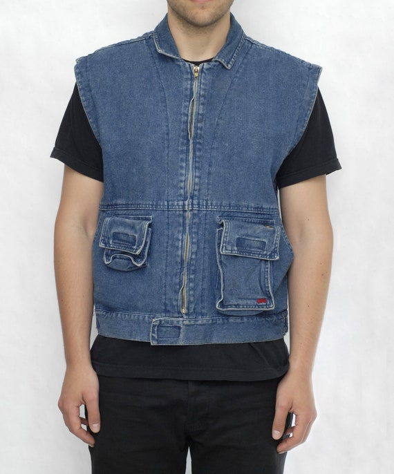 Denim Walkman Vest