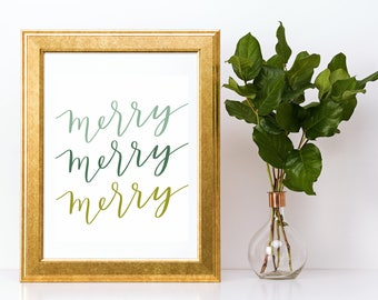 Merry Merry Merry Digital Print