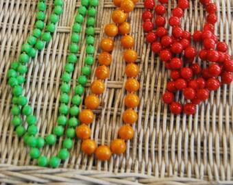 Vintage Trio of Costume Jewelry Necklaces