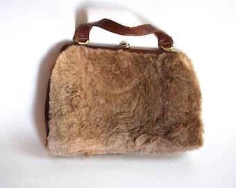 Vintage Eva bag handbag, Original authentic Kangaroo Fur Purse, Sydney Australia