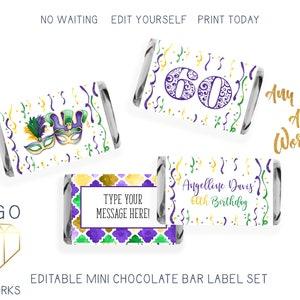 Godzilla Birthday Party Favor 54 Printed Labels Hershey Mini Chocolate Bar Labels Stickers Godzilla Mini Candy Bar Wrappers