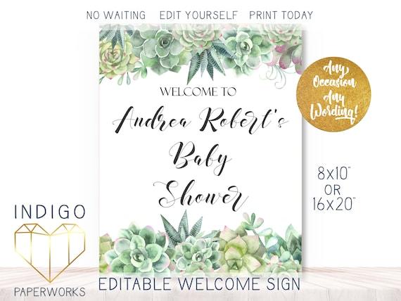 Choose Your Text Southwest Succulents One PRINTABLE 8x1016x20\u201d Portrait Sign Custom Cactus Sign