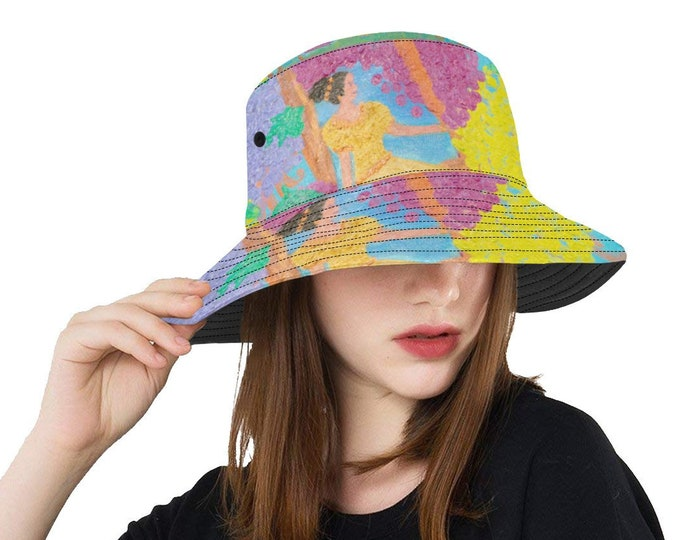 Bucket Hat Created from My Original Acrylic painting