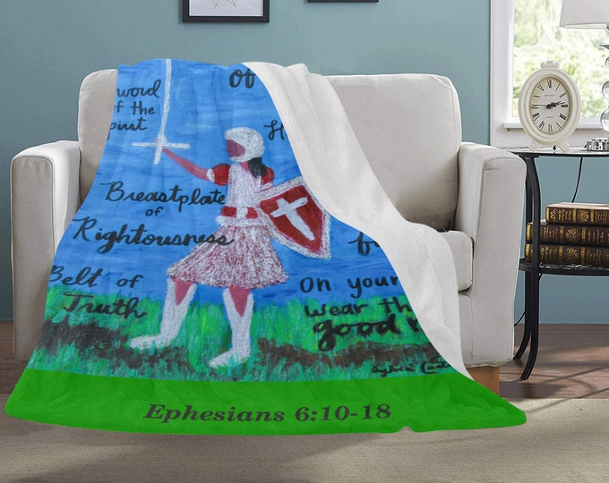 Personal Fleece Blanket Created From My Original Acrylic Painting