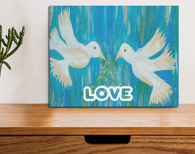 Photo Panel for Tabletop or Desk Top or Counter Top Created From My Original Acrylic Painting
