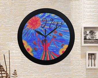 HOPE CLOCK Created From My Original Acrylic Painting