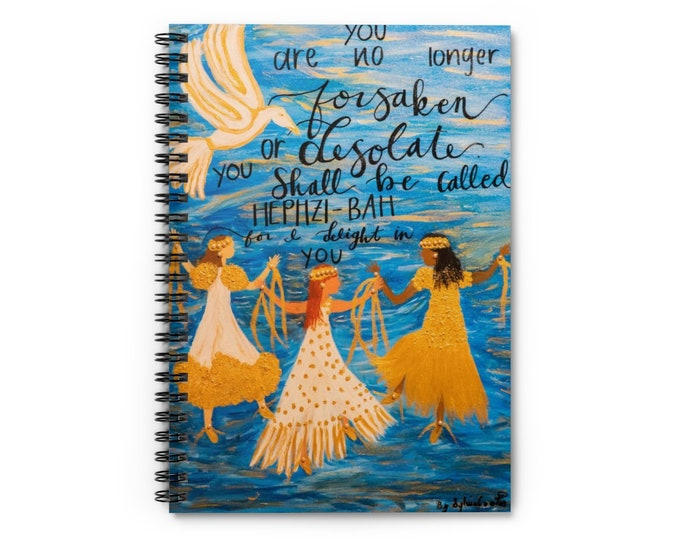 I Delight In You Spiral Notebook - Ruled Line Created From My Original Acrylic Painting