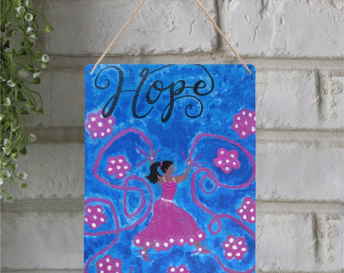 """Metal Tin Sign Created From My Original Acrylic Painting """"HOPE"""""""