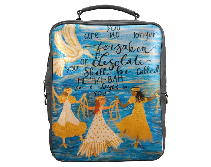 Book Bag Created From my Original Acrylic Painting Delight In You Isaiah 52:4-5  Prophetic, Inspirational Art