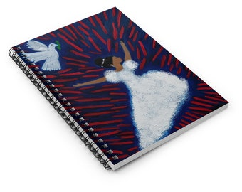 Isaiah 1:16 White as Show Spiral Notebook - Ruled Line