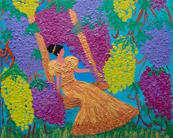 Original Acrylic Painting The Vine