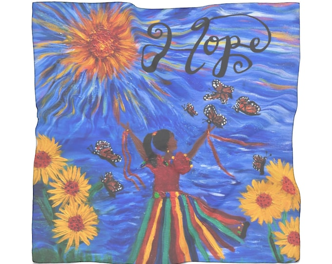 Hope Poly Scarf Created From My Original Acrylic Painting