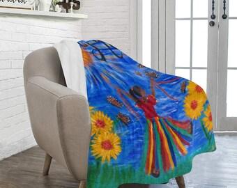 "Hope Fleece Blanket Created From My Original Acrylic Painting ""HOPE"""