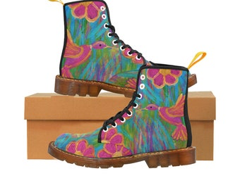 Martin Women Boots Created From My Original Acrylic Painting