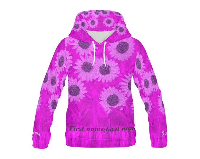 Personalized Hoodie Jacket Created From My Orignal Acrylic Painting