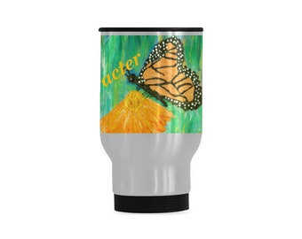 Presonalized Monarch ButterFly Mug Created From My Original Acrylic Painting