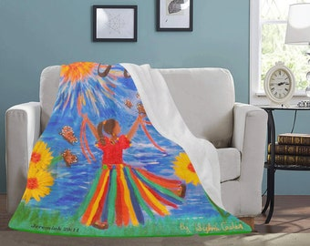 "Personal Fleece Blanket Created From My Original Acrylic Painting ""HOPE"""