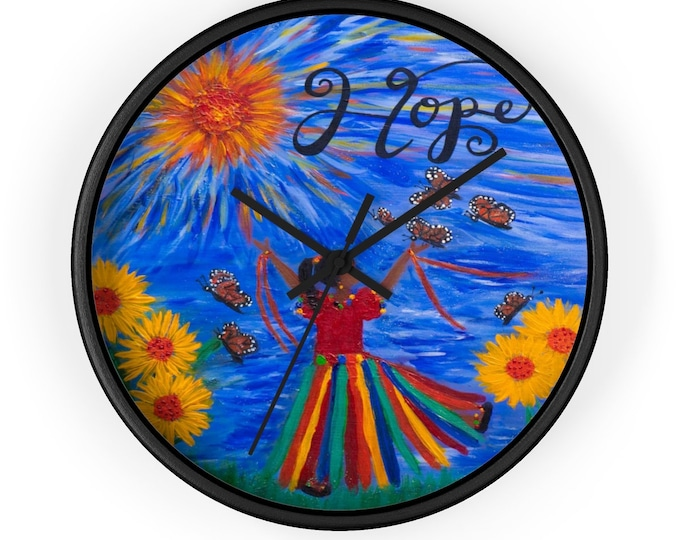 Hope Wall Clock Created From My Original Acrylic Painting