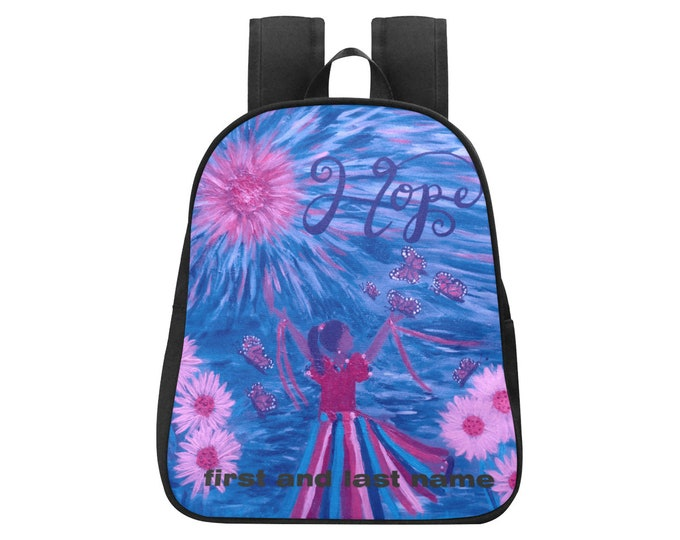 Personalized  HOPE Backpack Created From My Original Acrylic Painting(up to 20 characters with spaces)