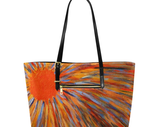 Euramerican Tote Bag/Large  Created From My Original Acrylic Painting