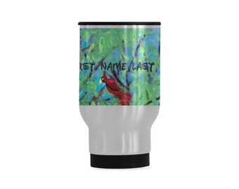 Personalized Stainless Steel Mug Created From My Orignial Acrylic Painting