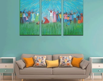 Canvas Wall Art Print Created From My Original Acrylic Painting