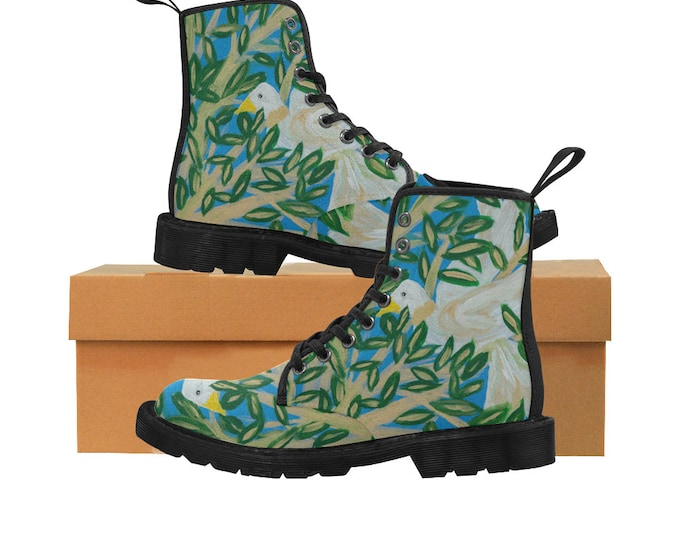 Women Boots Created From My Original Acrylic Painting