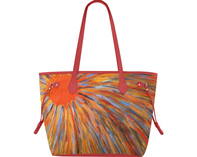 Clover Tote Bag Created From My Original Acrylic Painting