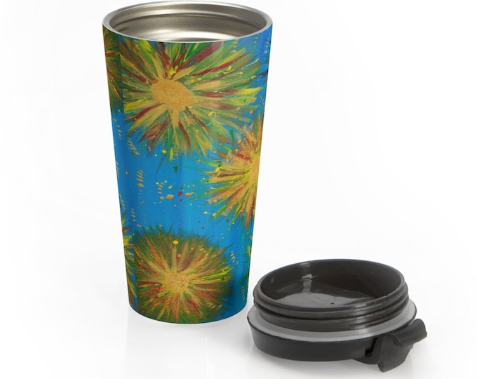 Burst of Joy Stainless Steel Travel Mug Created From My Original Painting