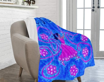 Personal Fleece HOPE Blanket, Created From My Original Acrylic Painting
