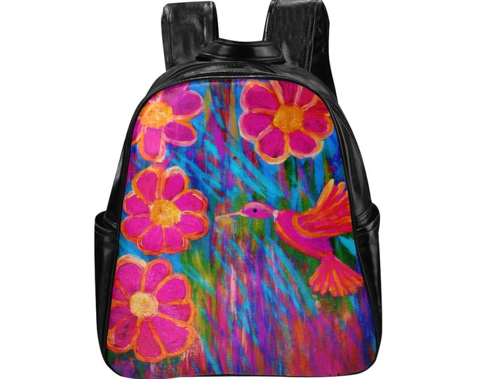 HummingBird Backpack Created From My Acrylic Painting