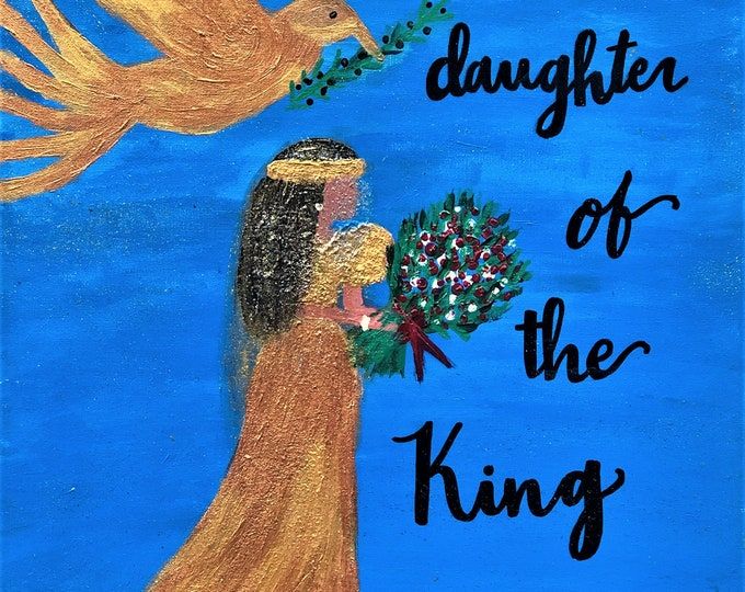 "Original Acrylic Painting Daughter Of The King   24in"" x 18in"""