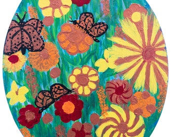 "Original Acrylic Painting ""Butterflies Haven"""