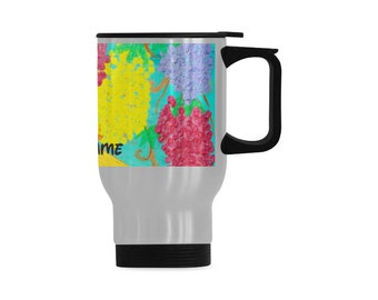 Personalized Stainless Steel Mug Created  From My Original Acrylic Painting