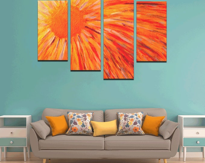 Canvas Wall Art Created From My Original Acrylic Paint (Print)