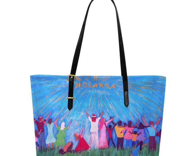 Hosanna; Euramerican Large Tote Bag, Created From my Original Acrylic Painting