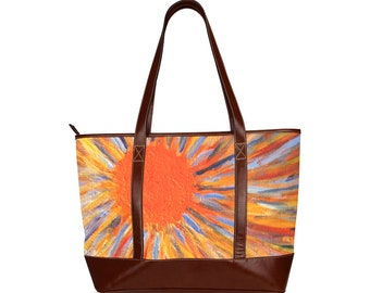 Tote Hand Bag Created From My Original Acrylic Painting