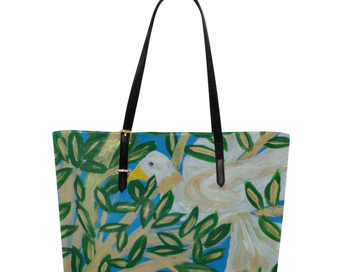 Euramerican Large Tote Bag,  Created from My Original Acrylic Painting