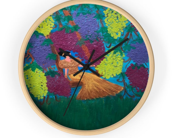 The Vine Wall Clock Created From My Original Acrylic Painting