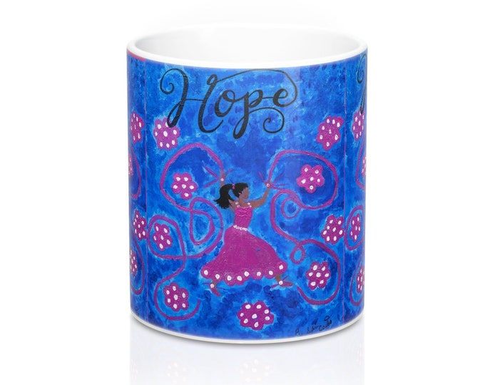 Hope Mug 11oz Created From My Original Acrylic Painting