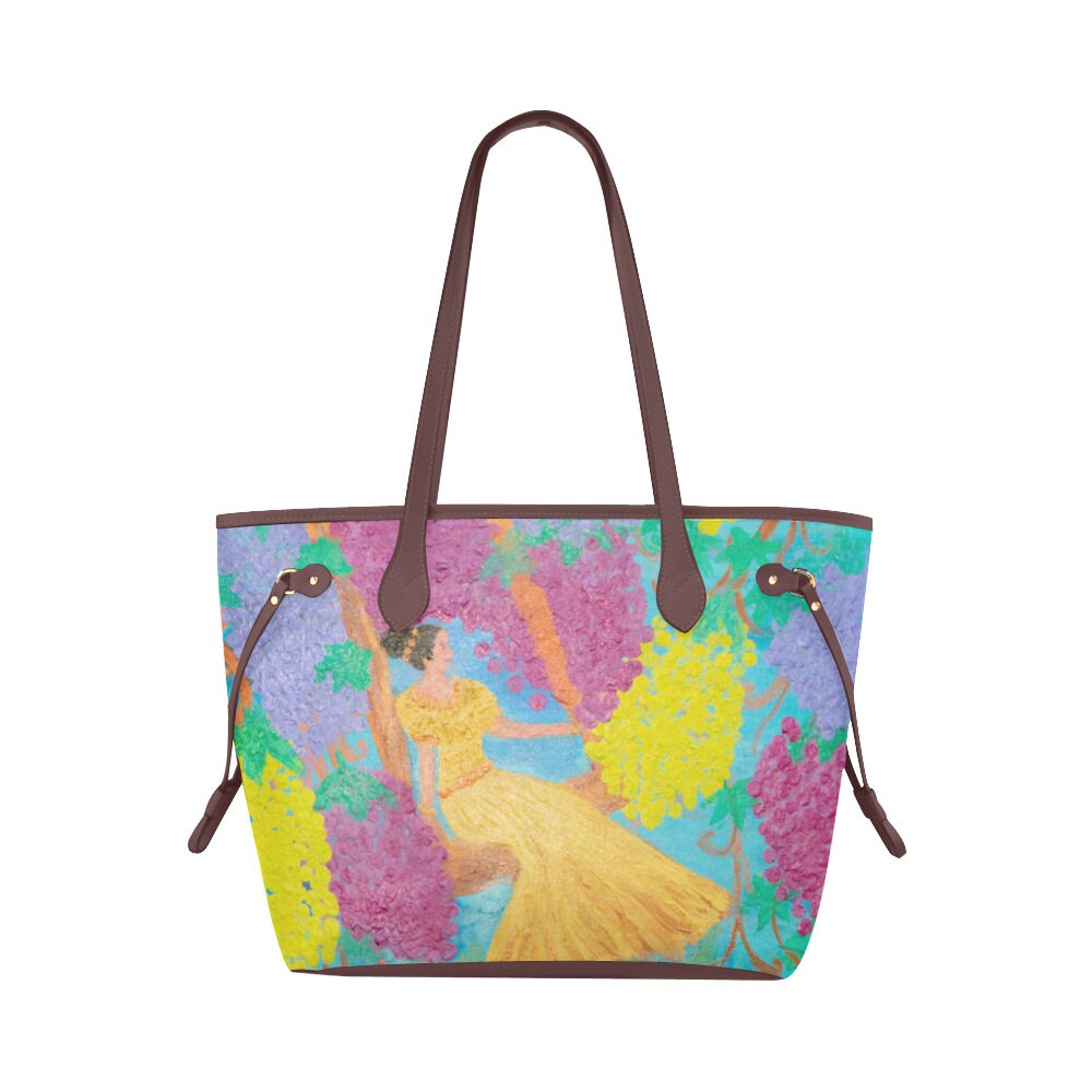 Clover Canvas Tote Bag Created From My Original Acrylic