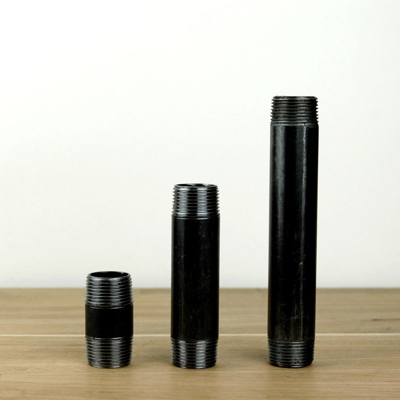Threaded tubes black steel 4 to 150 cm 15/21mm 1/2 ' image 0