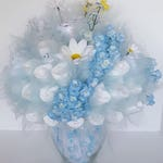 Diaper bouquet - baby shower centerpiece - baby boy shower decorations - unique new baby gift- baby shower idea - flower diaper bouquet