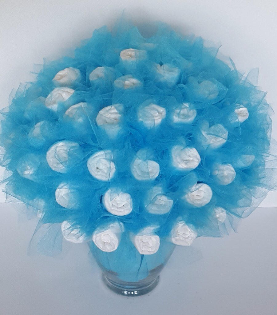 Diaper Bouquet Baby Shower Decorations Baby Shower Ideas Baby Shower Centerpiece New Mom Gift Unique New Baby Gift Shower Gift