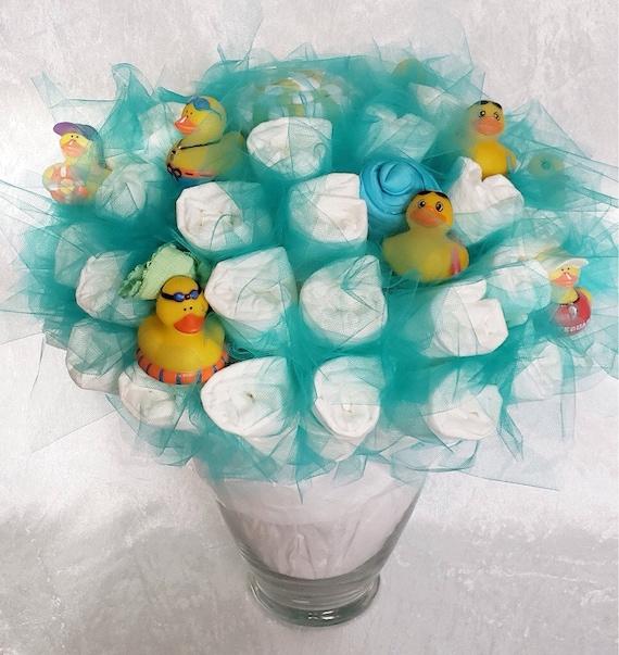 Rubber Ducky Baby Diaper Bouquet Baby Shower Centerpiece Etsy