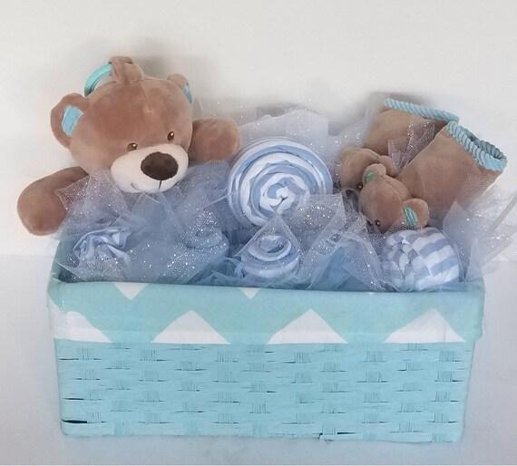 Baby Bear Diaper Basket Boy Baby Shower Centerpiece Baby Etsy