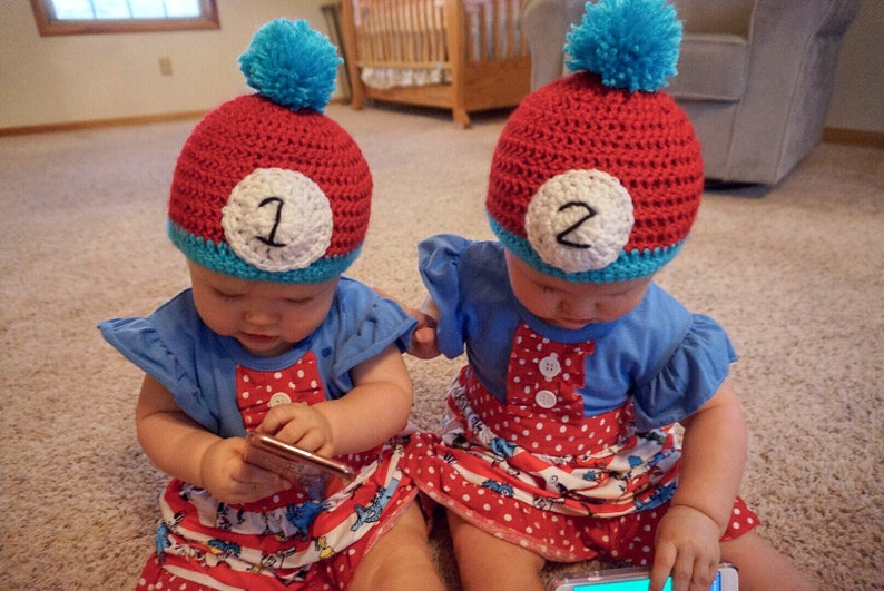 Thing One Thing Two Hats twin hats Halloween costume hats  eb2c654e7