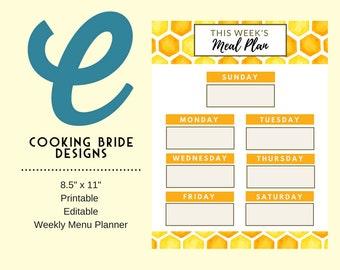 printable recipe binder kit editable recipe template blank etsy