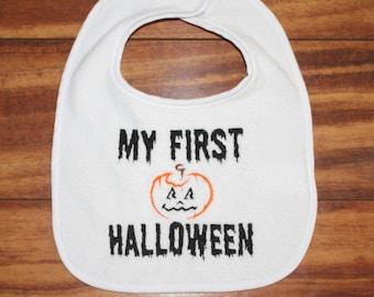 halloween bib first halloween bib my first halloween bib babys first halloween bib babys first halloween pumpkin bib spider bib fall bib